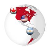 Canada, USA, Argentine